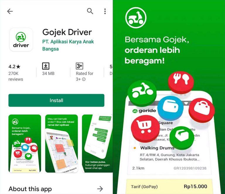 Download aplikasi untuk driver di Play Store