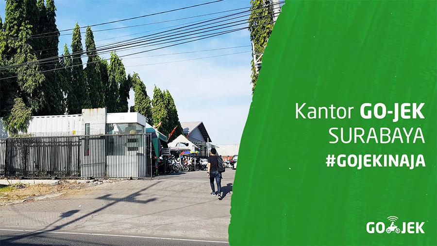 Lokasi kantor Gojek di Surabaya