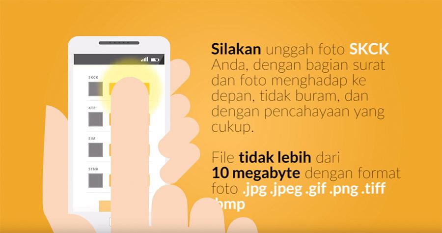 Upload dokumen pendaftaran Gojek