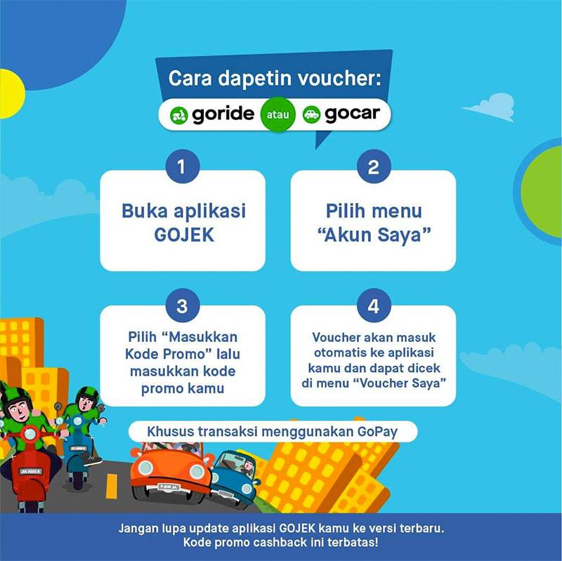 Gojek sering memberikan voucher promo untuk berbagai layanan mereka