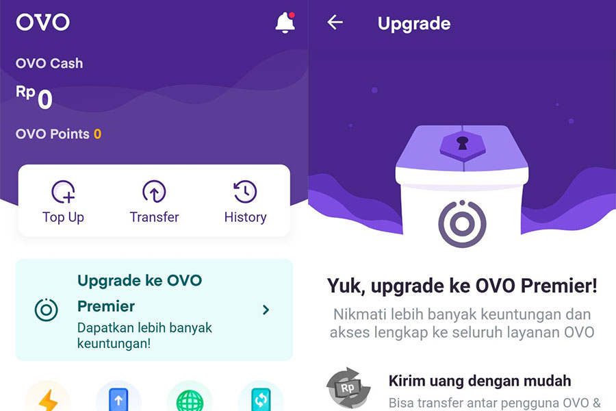 Cara upgrade OVO Premier