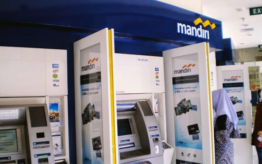 Ilustrasi gerai ATM milik Bank Mandiri