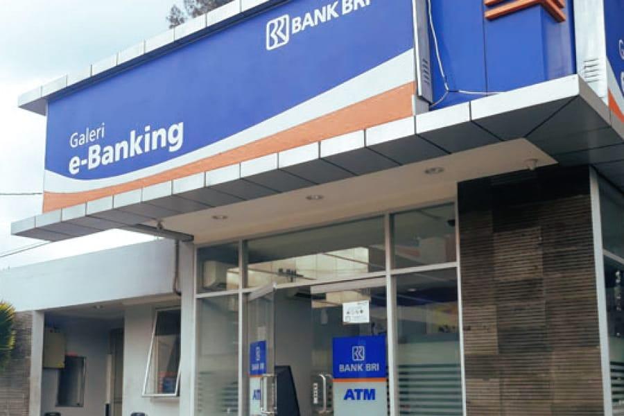 Ilustrasi sebuah gerai ATM milik BRI
